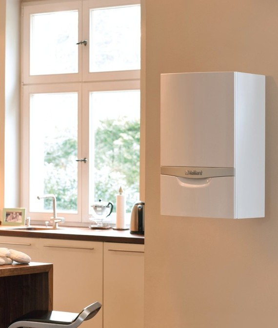 Partial view on wall-hung boiler ecoTEC plus display